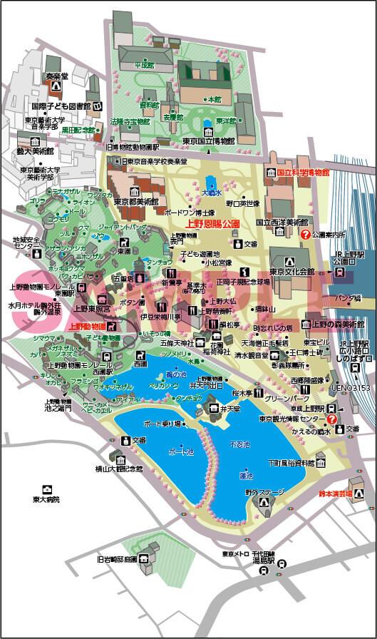 上野駅イラストマップ